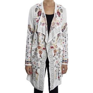 🍃💕NWT Johnny Was Atterlee Embroidered Long Wrap